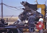 Image of Ramains of X-15-3 destroyed on test stand California United States USA, 1960, second 56 stock footage video 65675021358
