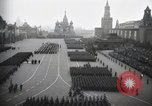 Image of Moscow parade celebrating 40th anniversary of Soviet Union Moscow Russia Soviet Union, 1957, second 24 stock footage video 65675021410