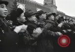 Image of Moscow parade celebrating 40th anniversary of Soviet Union Moscow Russia Soviet Union, 1957, second 54 stock footage video 65675021410