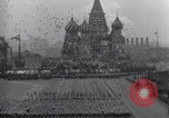 Image of Moscow parade celebrating 40th anniversary of Soviet Union Moscow Russia Soviet Union, 1957, second 55 stock footage video 65675021410