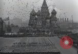 Image of Moscow parade celebrating 40th anniversary of Soviet Union Moscow Russia Soviet Union, 1957, second 57 stock footage video 65675021410