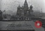 Image of Moscow parade celebrating 40th anniversary of Soviet Union Moscow Russia Soviet Union, 1957, second 58 stock footage video 65675021410
