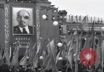 Image of Moscow parade celebrating 40th anniversary of Soviet Union Moscow Russia Soviet Union, 1957, second 59 stock footage video 65675021410