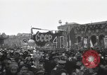 Image of Moscow parade celebrating 40th anniversary of Soviet Union Moscow Russia Soviet Union, 1957, second 61 stock footage video 65675021410