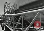 Image of Mercury Atlas MA-9 rocket erected Cape Canaveral Florida USA, 1963, second 31 stock footage video 65675021462