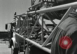 Image of Mercury Atlas MA-9 rocket erected Cape Canaveral Florida USA, 1963, second 39 stock footage video 65675021462