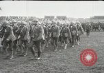 Image of United States troops march in French town in World War 1 France, 1918, second 11 stock footage video 65675021505
