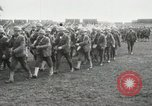 Image of United States troops march in French town in World War 1 France, 1918, second 13 stock footage video 65675021505