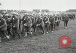 Image of United States troops march in French town in World War 1 France, 1918, second 14 stock footage video 65675021505