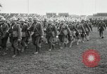 Image of United States troops march in French town in World War 1 France, 1918, second 21 stock footage video 65675021505