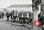 Image of United States troops march in French town in World War 1 France, 1918, second 31 stock footage video 65675021505