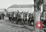 Image of United States troops march in French town in World War 1 France, 1918, second 34 stock footage video 65675021505