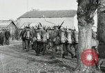 Image of United States troops march in French town in World War 1 France, 1918, second 37 stock footage video 65675021505