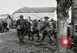 Image of United States troops march in French town in World War 1 France, 1918, second 39 stock footage video 65675021505