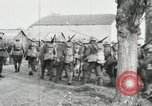 Image of United States troops march in French town in World War 1 France, 1918, second 44 stock footage video 65675021505