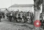 Image of United States troops march in French town in World War 1 France, 1918, second 46 stock footage video 65675021505