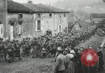 Image of United States troops march in French town in World War 1 France, 1918, second 55 stock footage video 65675021505