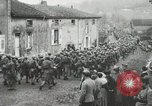 Image of United States troops march in French town in World War 1 France, 1918, second 56 stock footage video 65675021505