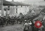 Image of United States troops march in French town in World War 1 France, 1918, second 57 stock footage video 65675021505