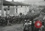 Image of United States troops march in French town in World War 1 France, 1918, second 58 stock footage video 65675021505