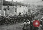Image of United States troops march in French town in World War 1 France, 1918, second 59 stock footage video 65675021505