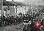 Image of United States troops march in French town in World War 1 France, 1918, second 60 stock footage video 65675021505