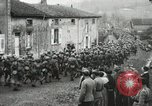 Image of United States troops march in French town in World War 1 France, 1918, second 61 stock footage video 65675021505