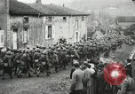 Image of United States troops march in French town in World War 1 France, 1918, second 62 stock footage video 65675021505