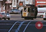 Image of Cable cars in North Beach area San Francisco San Francisco California USA, 1968, second 13 stock footage video 65675021686