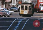 Image of Cable cars in North Beach area San Francisco San Francisco California USA, 1968, second 14 stock footage video 65675021686