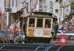 Image of Cable cars in North Beach area San Francisco San Francisco California USA, 1968, second 21 stock footage video 65675021686