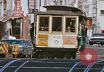 Image of Cable cars in North Beach area San Francisco San Francisco California USA, 1968, second 25 stock footage video 65675021686