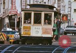 Image of Cable cars in North Beach area San Francisco San Francisco California USA, 1968, second 26 stock footage video 65675021686