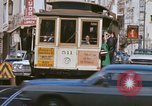 Image of Cable cars in North Beach area San Francisco San Francisco California USA, 1968, second 27 stock footage video 65675021686