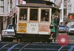 Image of Cable cars in North Beach area San Francisco San Francisco California USA, 1968, second 28 stock footage video 65675021686