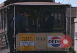 Image of Cable cars in North Beach area San Francisco San Francisco California USA, 1968, second 54 stock footage video 65675021686