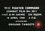 Image of VIII Fighter Command Germany, 1944, second 2 stock footage video 65675021813