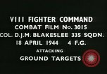 Image of VIII Fighter Command Germany, 1944, second 2 stock footage video 65675021815