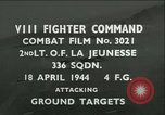 Image of VIII Fighter Command Germany, 1944, second 1 stock footage video 65675021816