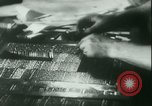 Image of Nazi newspaper printing during Paris occupation Paris France, 1940, second 17 stock footage video 65675021941