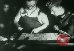 Image of Nazi newspaper printing during Paris occupation Paris France, 1940, second 21 stock footage video 65675021941