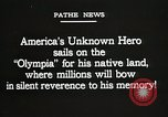 Image of American Unknown Soldier honored in France and transported to America France, 1921, second 2 stock footage video 65675021987