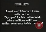 Image of American Unknown Soldier honored in France and transported to America France, 1921, second 4 stock footage video 65675021987