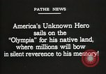 Image of American Unknown Soldier honored in France and transported to America France, 1921, second 5 stock footage video 65675021987