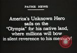 Image of American Unknown Soldier honored in France and transported to America France, 1921, second 8 stock footage video 65675021987