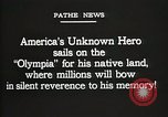 Image of American Unknown Soldier honored in France and transported to America France, 1921, second 9 stock footage video 65675021987