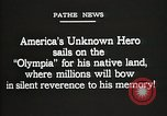Image of American Unknown Soldier honored in France and transported to America France, 1921, second 11 stock footage video 65675021987