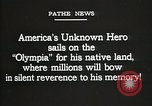 Image of American Unknown Soldier honored in France and transported to America France, 1921, second 13 stock footage video 65675021987