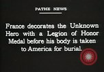 Image of American Unknown Soldier honored in France and transported to America France, 1921, second 57 stock footage video 65675021987