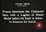 Image of American Unknown Soldier honored in France and transported to America France, 1921, second 59 stock footage video 65675021987